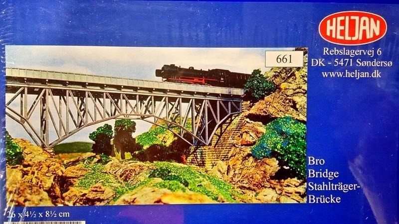 N Scale - Heljan - b661 - Arch Bridge with Piers - Railroad Structures - Arch Bridge