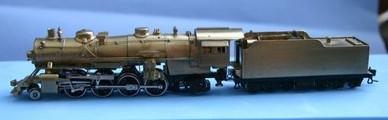 N Scale - Key - 3160 - Locomotive, Steam, 2-8-2 Heavy Mikado - Undecorated