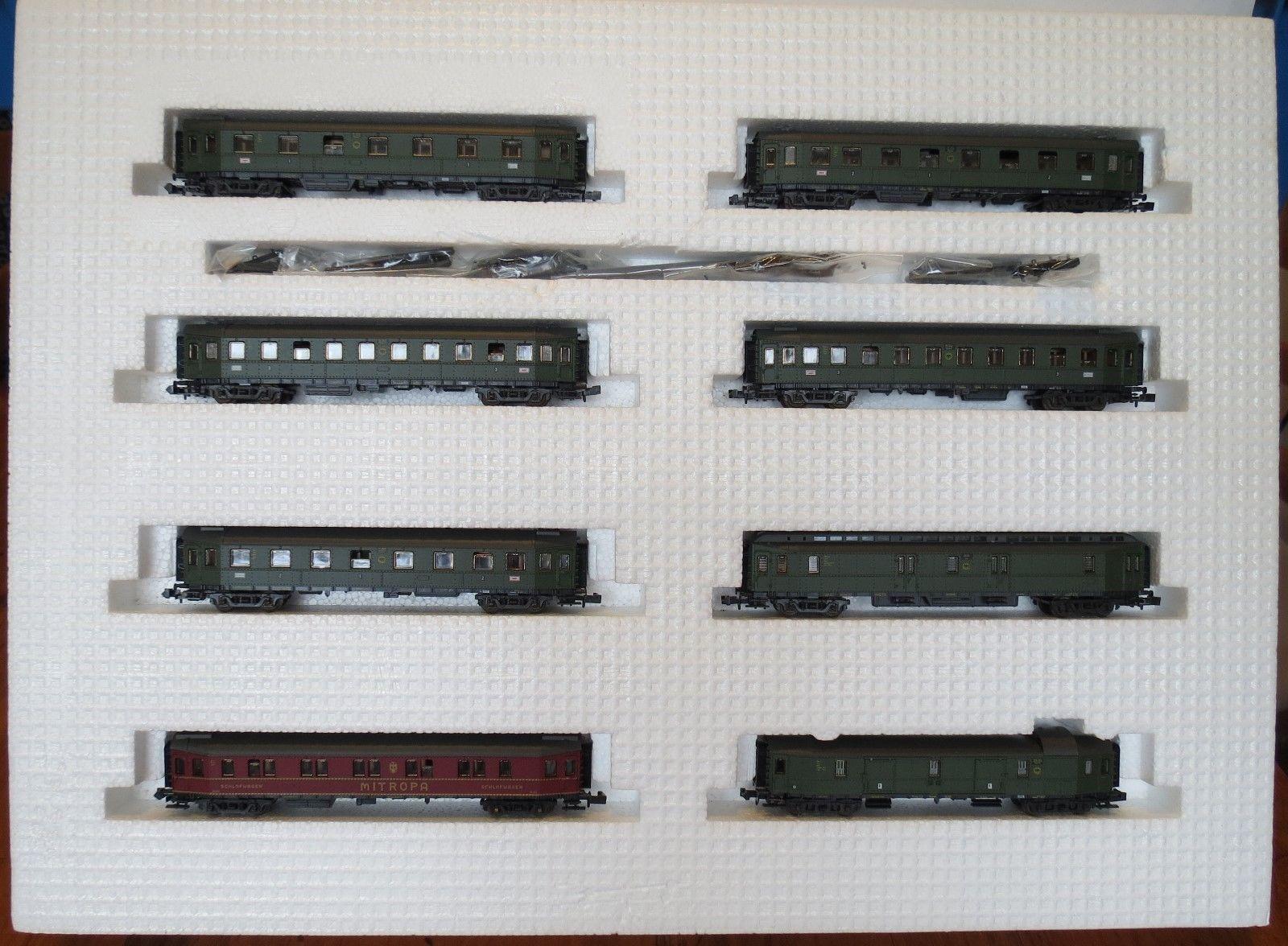 N Scale - Roco - 02062S - Passenger Car, DRG, Hechtwagen Pike Car - Deutsche Reichsbahn - 8-Pack