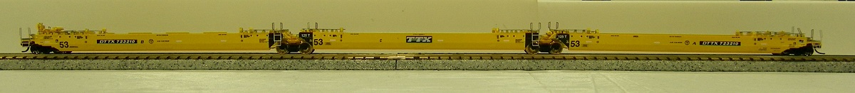 N Scale - Deluxe Innovations - 350104 - Container Car, Articulated Well, Maxi-IV - Trailer Train - 723825