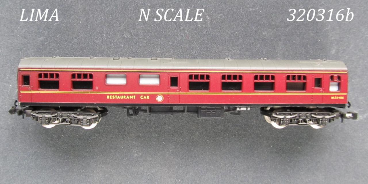 N Scale - Lima - 320316 - Passenger Car, British Rail, Mark 1 Coach - British Rail - M 25486