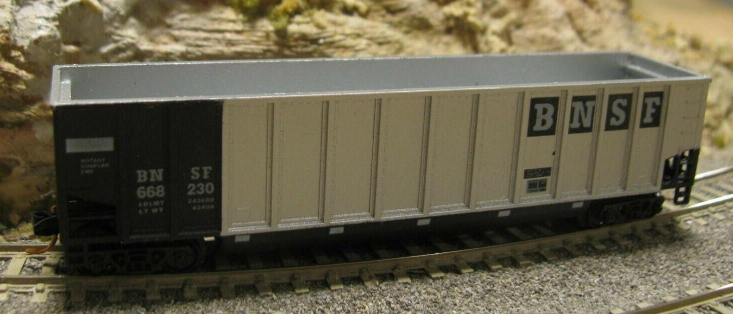 N Scale - Deluxe Innovations - 12090-6 - Gondola, Bathtub, Johnstown Twin Tub - Burlington Northern Santa Fe - 6-Pack