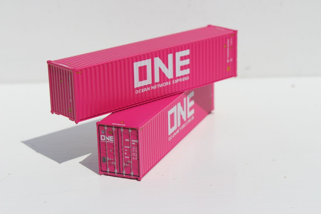 N Scale - Jacksonville Terminal - 405045 - Container, 40 Foot, Hi-Cube - ONE, Ocean Network Express