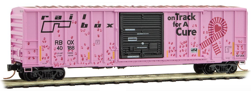 Micro-Trains # 02545561 Railbox Graffiti 50/' Rib Side Boxcar Single Door N-Scale