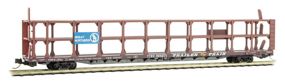 N Scale - Micro-Trains - 112 00 100 - Autorack, Open, F89F Tri-Level - Great Northern - 905071