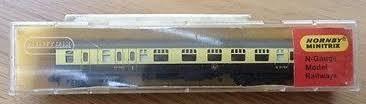 N Scale - Hornby-Minitrix - N302 - Passenger Car, British Rail, Mark 1 Coach - British Rail - W 21194