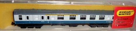 N Scale - Hornby-Minitrix - N306 - Passenger Car, British Rail, Mark 1 Coach - British Rail - M 21240