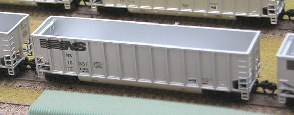 N Scale - Deluxe Innovations - 120123 - Gondola, Bathtub, Johnstown Twin Tub - Norfolk Southern - 10424  10433  10440