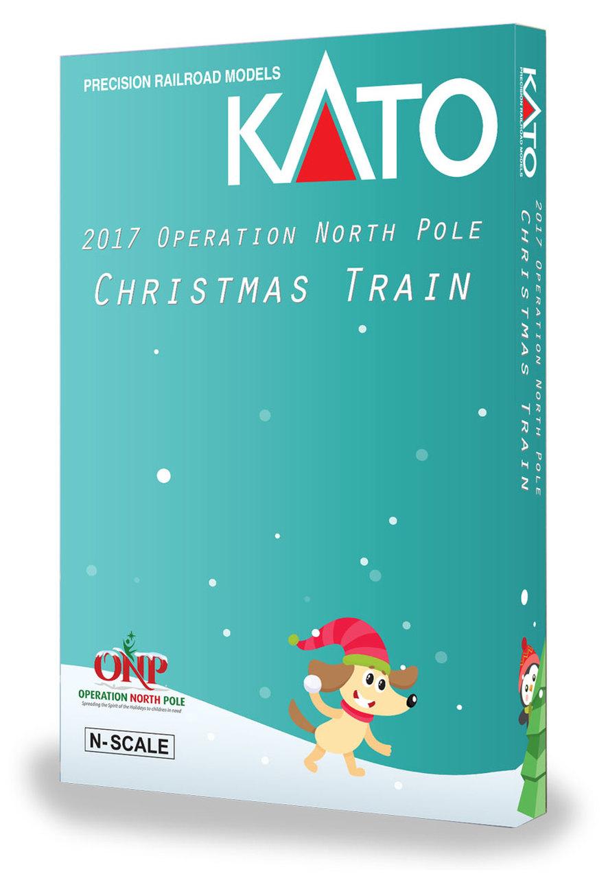 N Scale - Kato USA - 106-2017 - Passenger Train, Diesel, North American, Modern - Operation North Pole