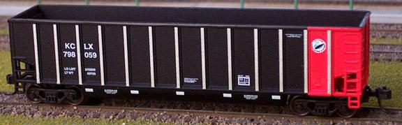 N Scale - Deluxe Innovations - 121901 - Gondola, Bathtub, Johnstown Twin Tub - Kansas City Power & Light - 798042
