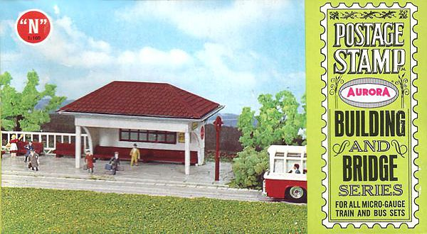 N Scale - Aurora Postage Stamp - 4113-100 - Bus Stop - Commercial Structures