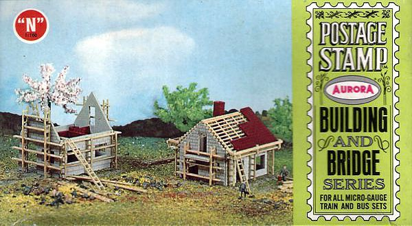 N Scale - Aurora Postage Stamp - 4123-125 - House - Residential Structures