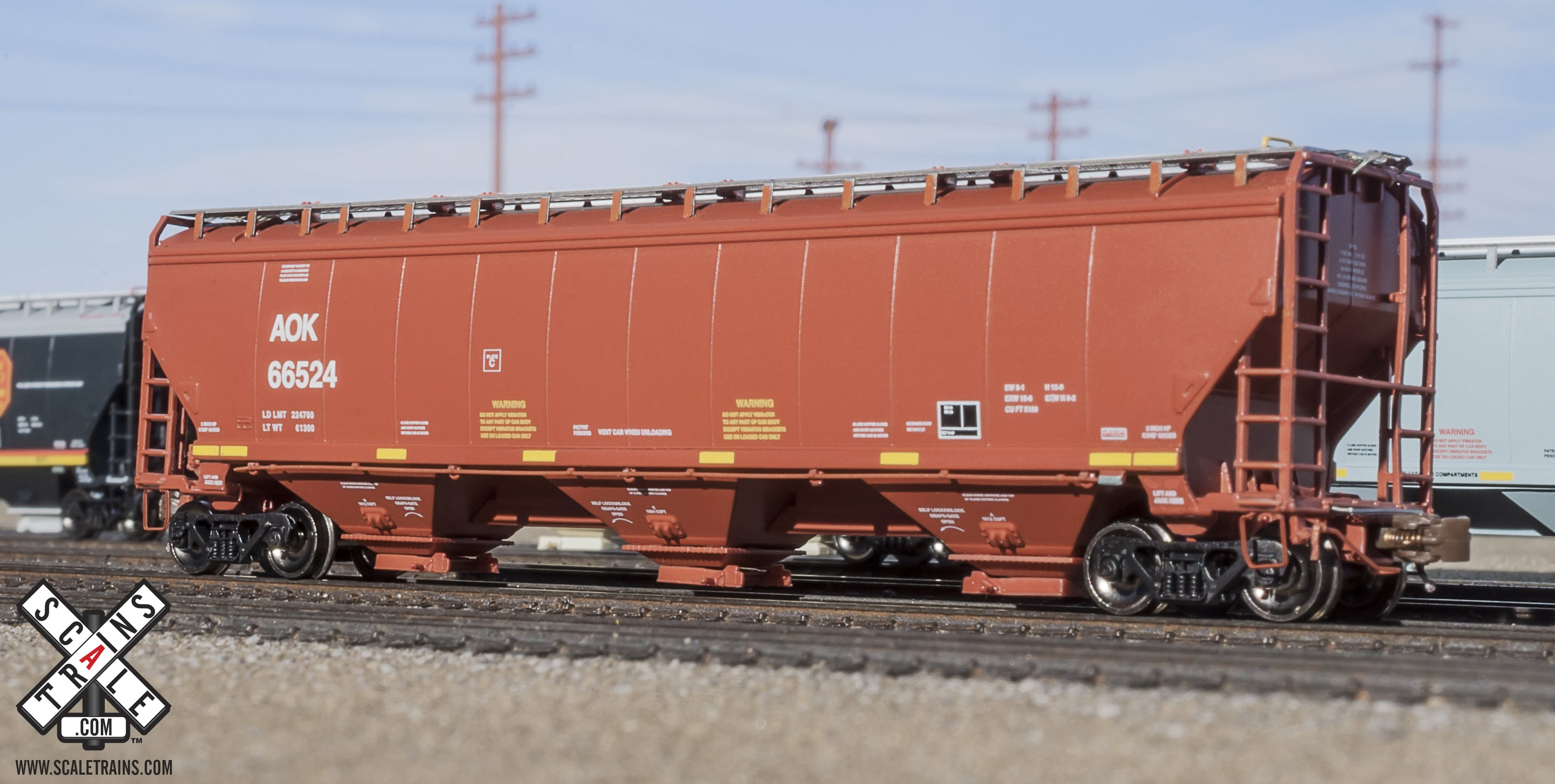 N Scale - ScaleTrains.com - SXT30901 - Covered Hopper, 3-Bay, Gunderson 5188 - Arkansas-Oklahoma - 66570