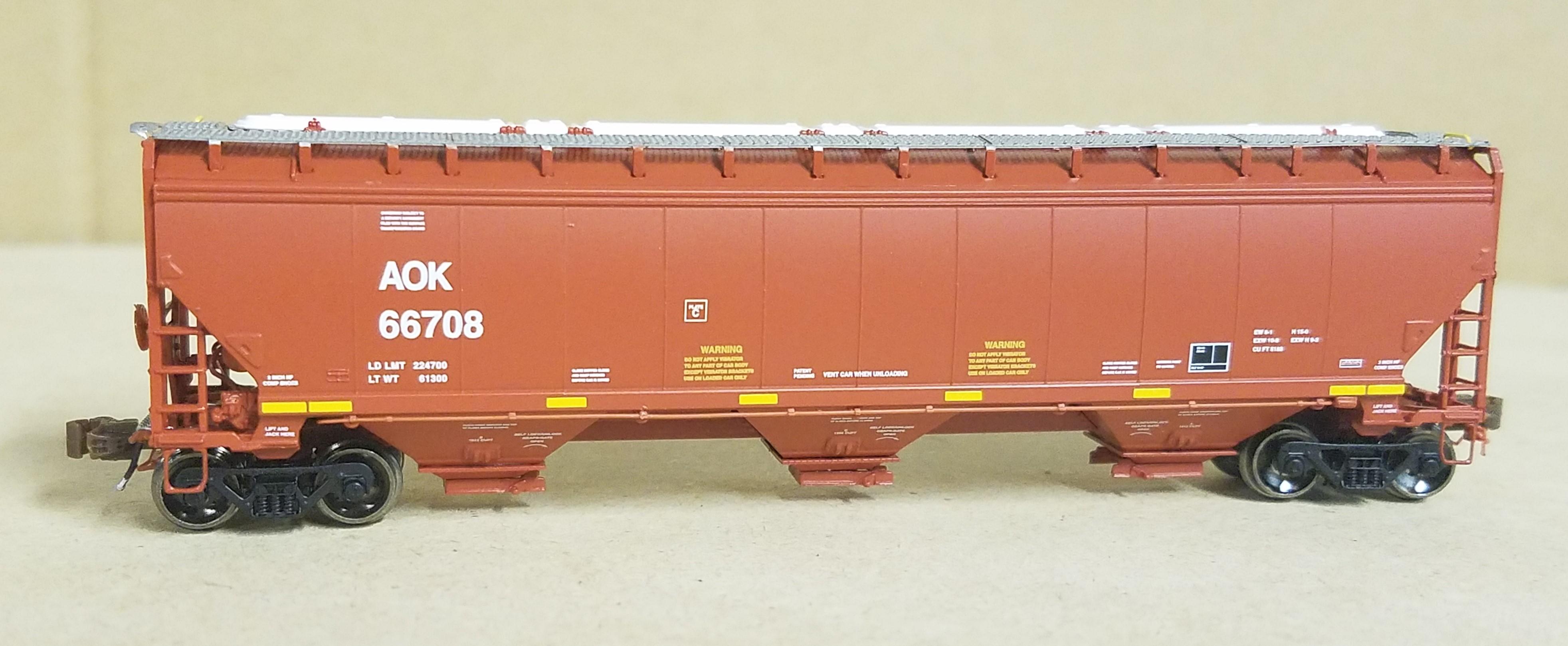 N Scale - ScaleTrains.com - SXT30904 - Covered Hopper, 3-Bay, Gunderson 5188 - Arkansas-Oklahoma - 66708