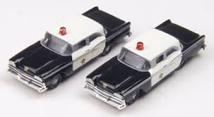 N Scale - Classic Metal Works - 50277 - Automobile, Ford, Fairlane - Police Dept - 1959 Ford Fairlane 4 door