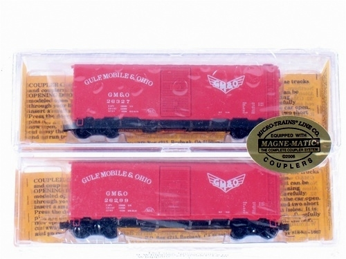 N Scale - Deluxe Innovations - 142202 - Boxcar, 40 Foot, AAR 1944 - Gulf Mobile & Ohio - 26299 26327