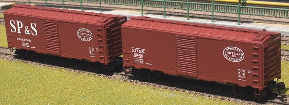 N Scale - Deluxe Innovations - 142403 - Boxcar, 40 Foot, AAR 1944 - Spokane Portland & Seattle - 12842 12608 12773