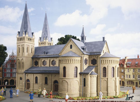 N Scale - Kibri - 7025 - Cathedral - Religious Structures - Cathedral
