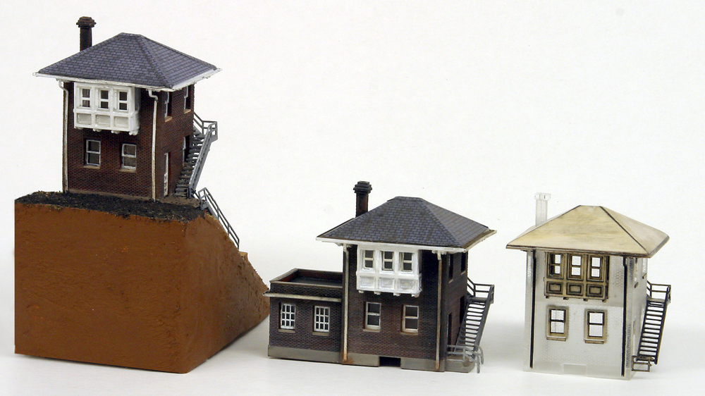 N Scale - Alkem Scale Models - Brick Cabin - C&O Standard Brick Cabin - Railroad Structures
