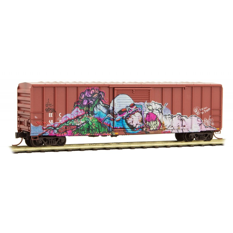 N Scale - Micro-Trains - 025 52 008 - Boxcar, 50 Foot, FMC, 5077 - East Erie Commercial - 689