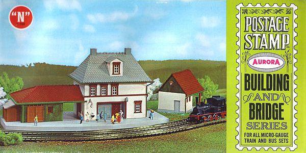 N Scale - Aurora Postage Stamp - 4112-250 - Station  - Railway Station