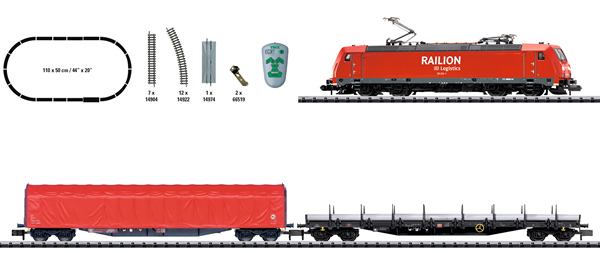 N Scale - Minitrix - 11145 - Freight Train, European, Electric, Epoch V - Deutsche Bahn - Starter Set
