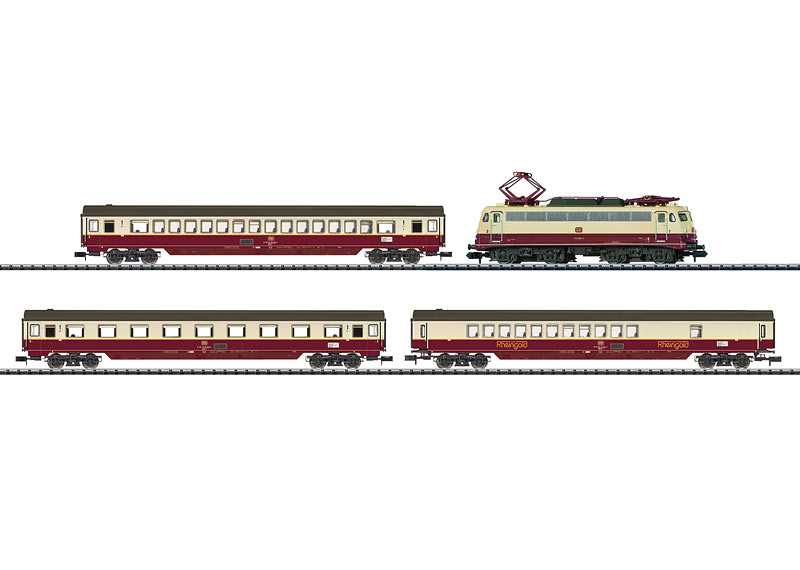 N Scale - Minitrix - 11627 - Passenger Train, Electric, Europe, Epoch IV - Deutsche Bahn - 4-Pack