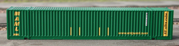 N Scale - Deluxe Innovations - 13050 - Container, 53 Foot, Corrugated - Alaska Marine - 2 numbers