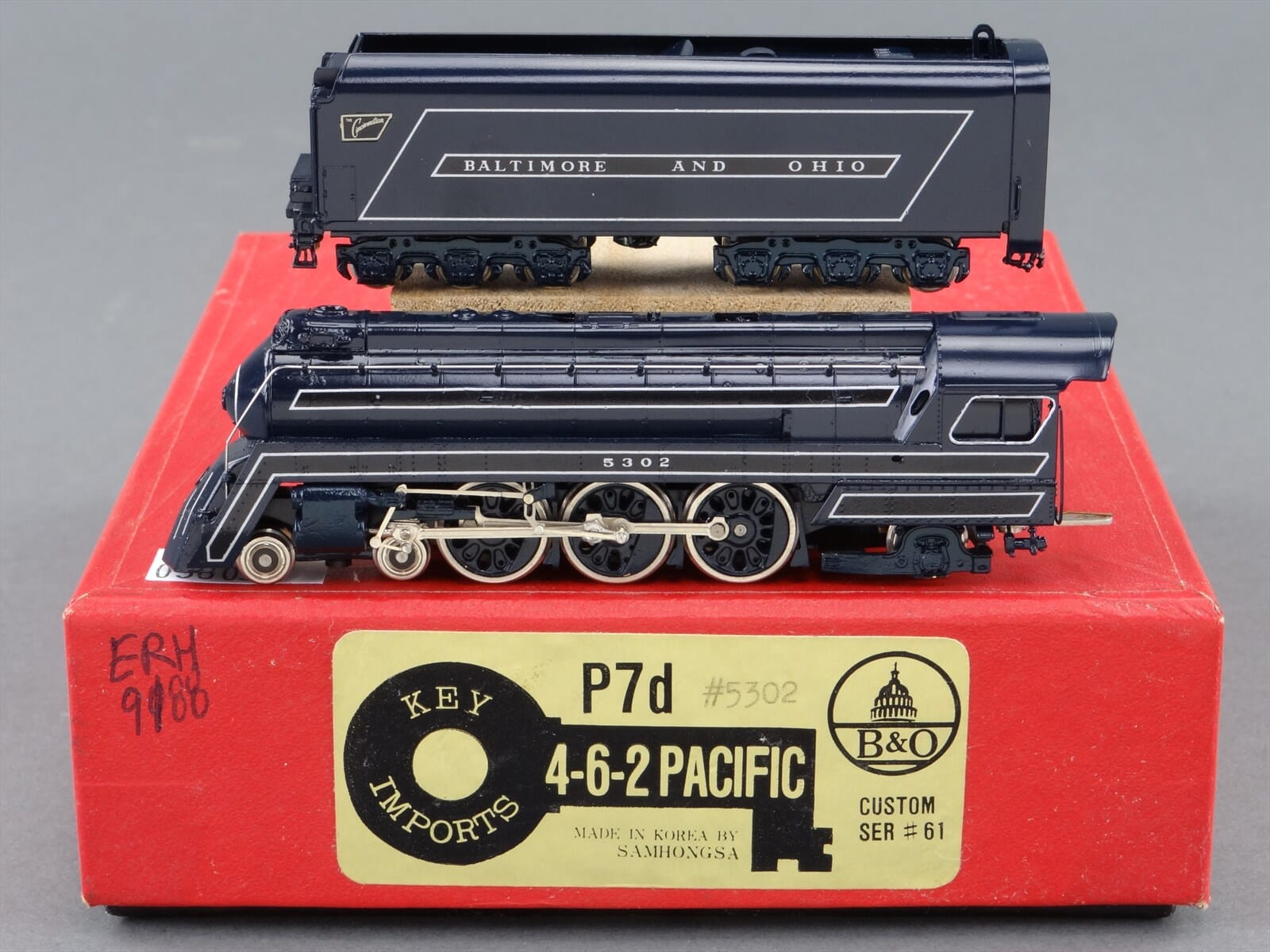 N Scale - Key - P7d #5302 - Locomotive, Steam, 4-6-2, Pacific B&O P-7 - Baltimore & Ohio - 5302