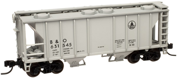 N Scale - Atlas - 50 000 886 - Covered Hopper, 2-Bay, PS2 - Baltimore & Ohio - 631642