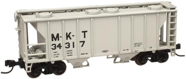 N Scale - Atlas - 50 000 889 - Covered Hopper, 2-Bay, PS2 - Missouri-Kansas-Texas - 34317
