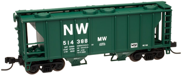 N Scale - Atlas - 50 000 891 - Covered Hopper, 2-Bay, PS2 - Norfolk & Western - 514388
