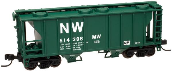 N Scale - Atlas - 50 000 892 - Covered Hopper, 2-Bay, PS2 - Norfolk & Western - 514396