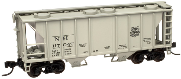 N Scale - Atlas - 50 000 900 - Covered Hopper, 2-Bay, PS2 - New Haven - 117047