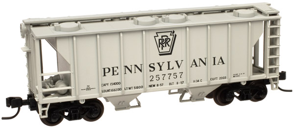 N Scale - Atlas - 50 000 901 - Covered Hopper, 2-Bay, PS2 - Pennsylvania - 257723