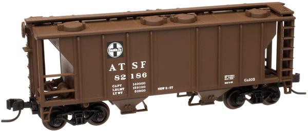 N Scale - Atlas - 50 000 903 - Covered Hopper, 2-Bay, PS2 - Santa Fe - 82173