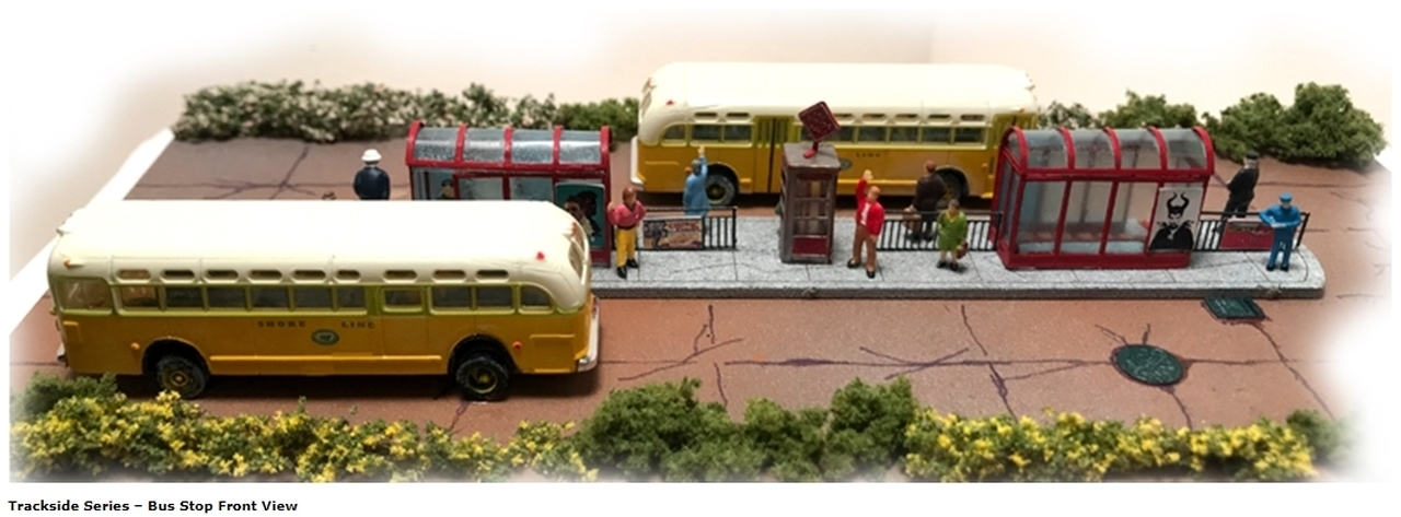 N Scale - N Scale Architect - 10048 - Bus Stop - Commercial Structures