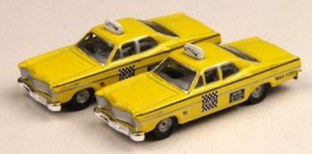 N Scale - Classic Metal Works - 50233 - Automobile, Ford, Custom - Taxi - 1967 Ford Custom 500, 4-door