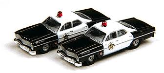 N Scale - Classic Metal Works - 50234 - Automobile, Ford, Custom - Police Dept - 1967 Ford Custom 500, 4-door