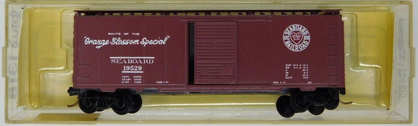 N Scale - Brooklyn Locomotive Works - BLW-131B - Boxcar, 40 Foot, PS-1 - Seaboard Air Line - 19529