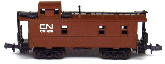 N Scale - Aurora Postage Stamp - 4887-211 - Caboose, Cupola, Steel - Canadian National - 470