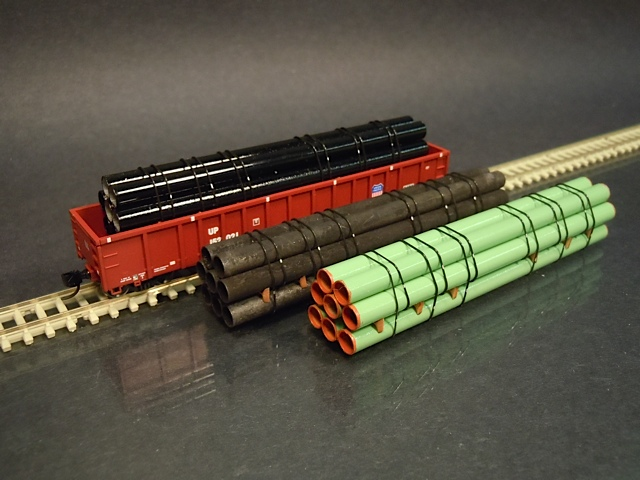 N Scale - ProtoLoads - NGON-WEATH - Loads - Painted/Unlettered - Pipes