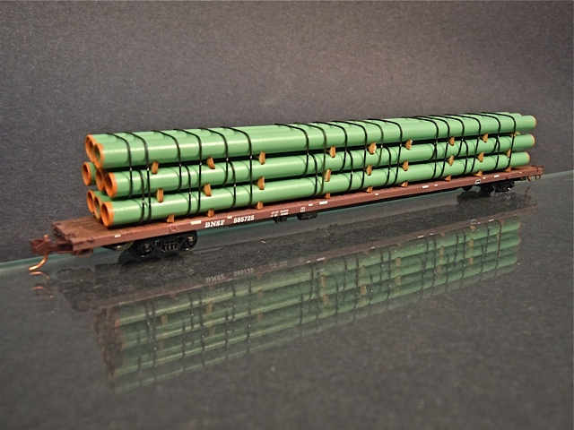 N Scale - ProtoLoads - NFLAT80 - Loads - Painted/Unlettered - Pipes