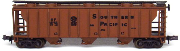 N Scale - Aurora Postage Stamp - 4869-280 - Covered Hopper, 3-Bay, PS2 2893 - Southern Pacific - 16060