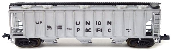 N Scale - Aurora Postage Stamp - 4869-210 - Covered Hopper, 3-Bay, PS2 2893 - Union Pacific