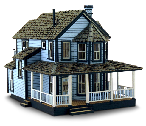 N Scale - Wild West Scale Model Builders - 101 - Residential Structures
