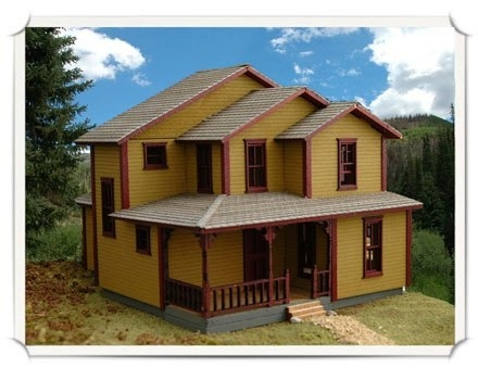 N Scale - Wild West Scale Model Builders - 102 - Residential Structures