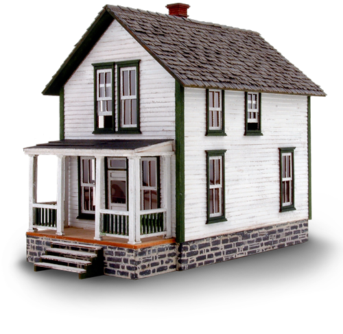 N Scale - Wild West Scale Model Builders - 103 - Residential Structures