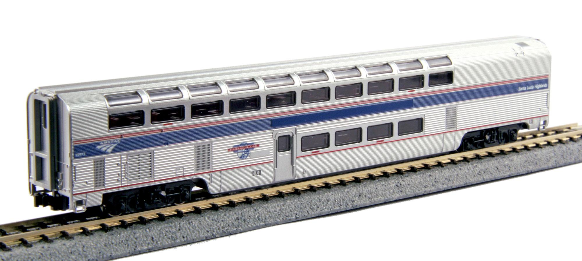 N Scale - Kato USA - 156-0950 - Passenger Car, Lightweight, Amtrak Superliner - Amtrak - 39973
