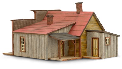 N Scale - Wild West Scale Model Builders - 105 - Commercial Structures